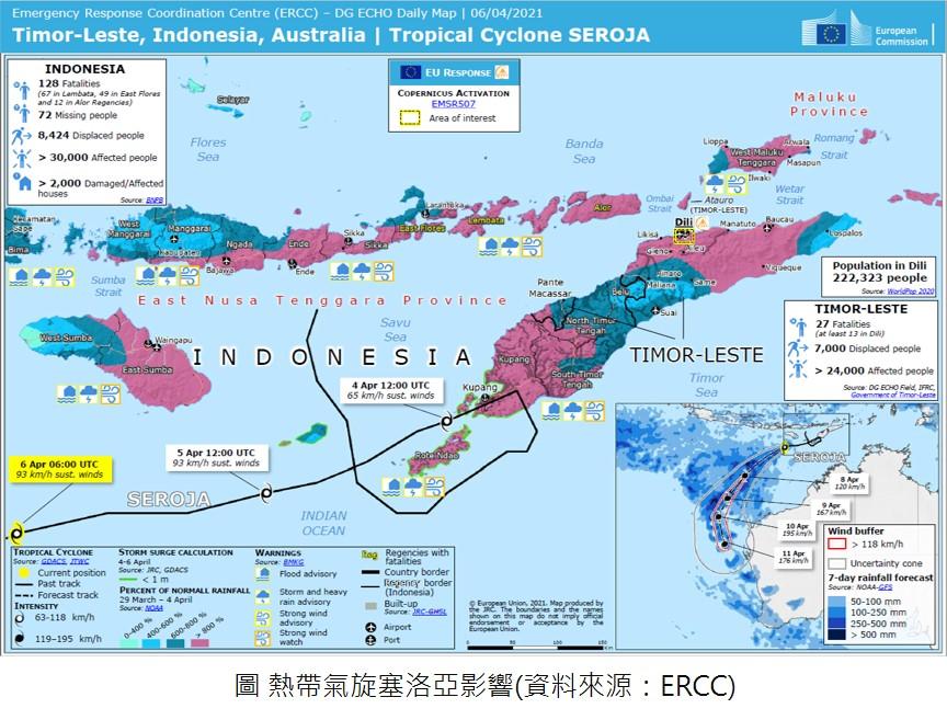 2021年4月印尼與東帝汶洪災事件